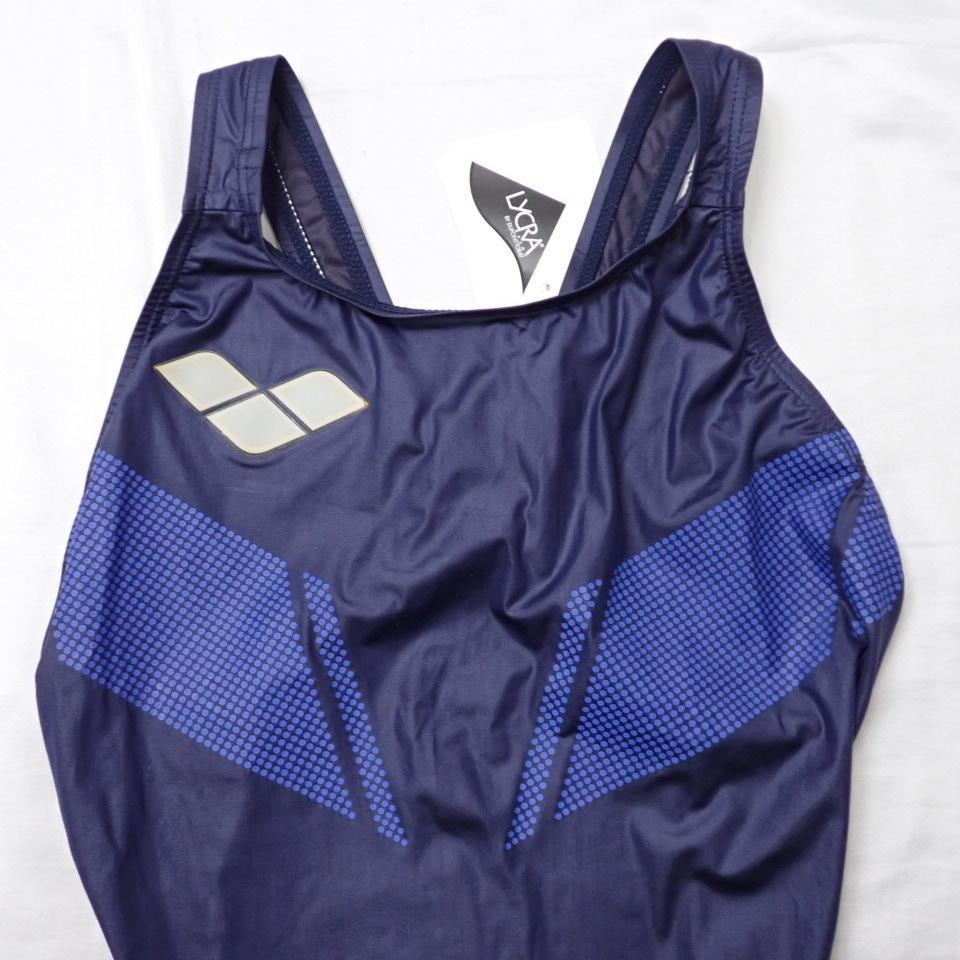 ●未使用 arena/アリーナ X-FLAT 女子 競泳水着 L/ダークネイビー/ARN-1001W/ハイカット/スイムウェア/水泳#1603900061_画像3