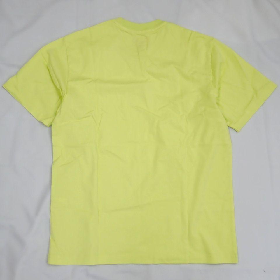 ●1円 未使用 Supreme/シュプリーム 半袖Tシャツ メンズS/ライムイエロー/コットン100%/ロゴ/クルーネック#1040800015_画像2