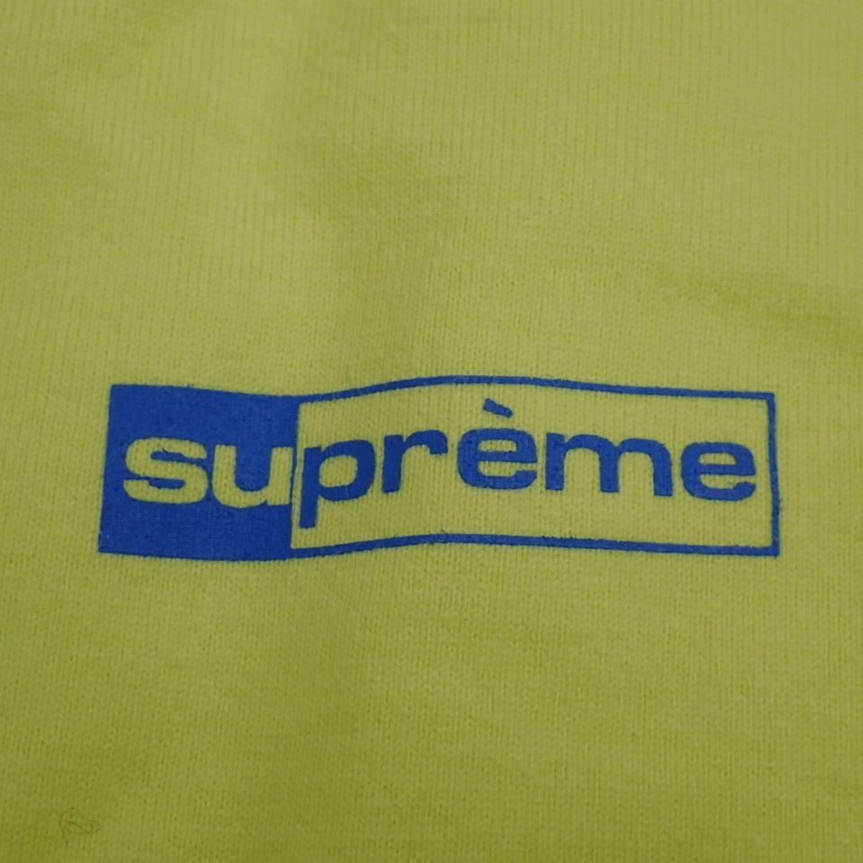 ●1円 未使用 Supreme/シュプリーム 半袖Tシャツ メンズS/ライムイエロー/コットン100%/ロゴ/クルーネック#1040800015_画像4