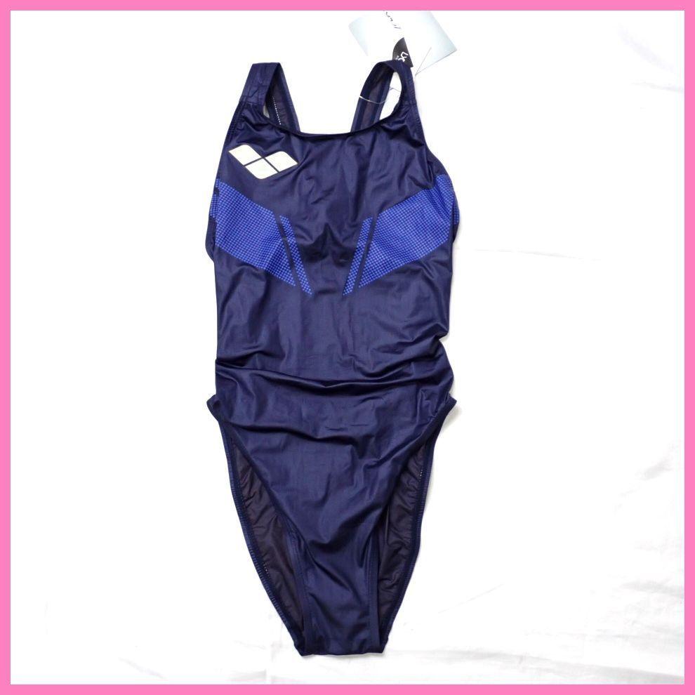 ●未使用 arena/アリーナ X-FLAT 女子 競泳水着 L/ダークネイビー/ARN-1001W/ハイカット/スイムウェア/水泳#1603900061_画像1