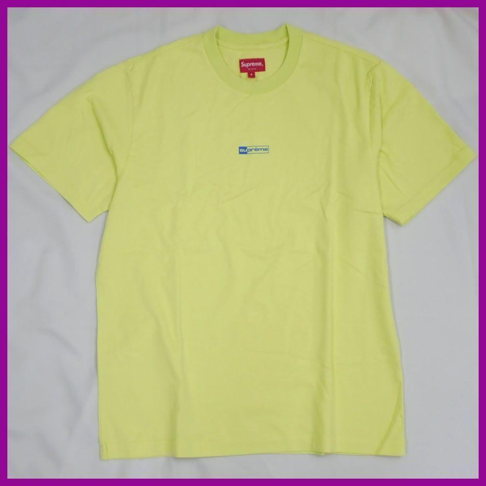 ●1円 未使用 Supreme/シュプリーム 半袖Tシャツ メンズS/ライムイエロー/コットン100%/ロゴ/クルーネック#1040800015_画像1