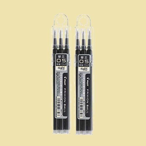 大人気 新品 未使用 フリクションインキボ-ルペン替芯 パイロット Y-P5 LFBKRF30EF3B 2個組み 3本セット 0.5mm 黒_画像1