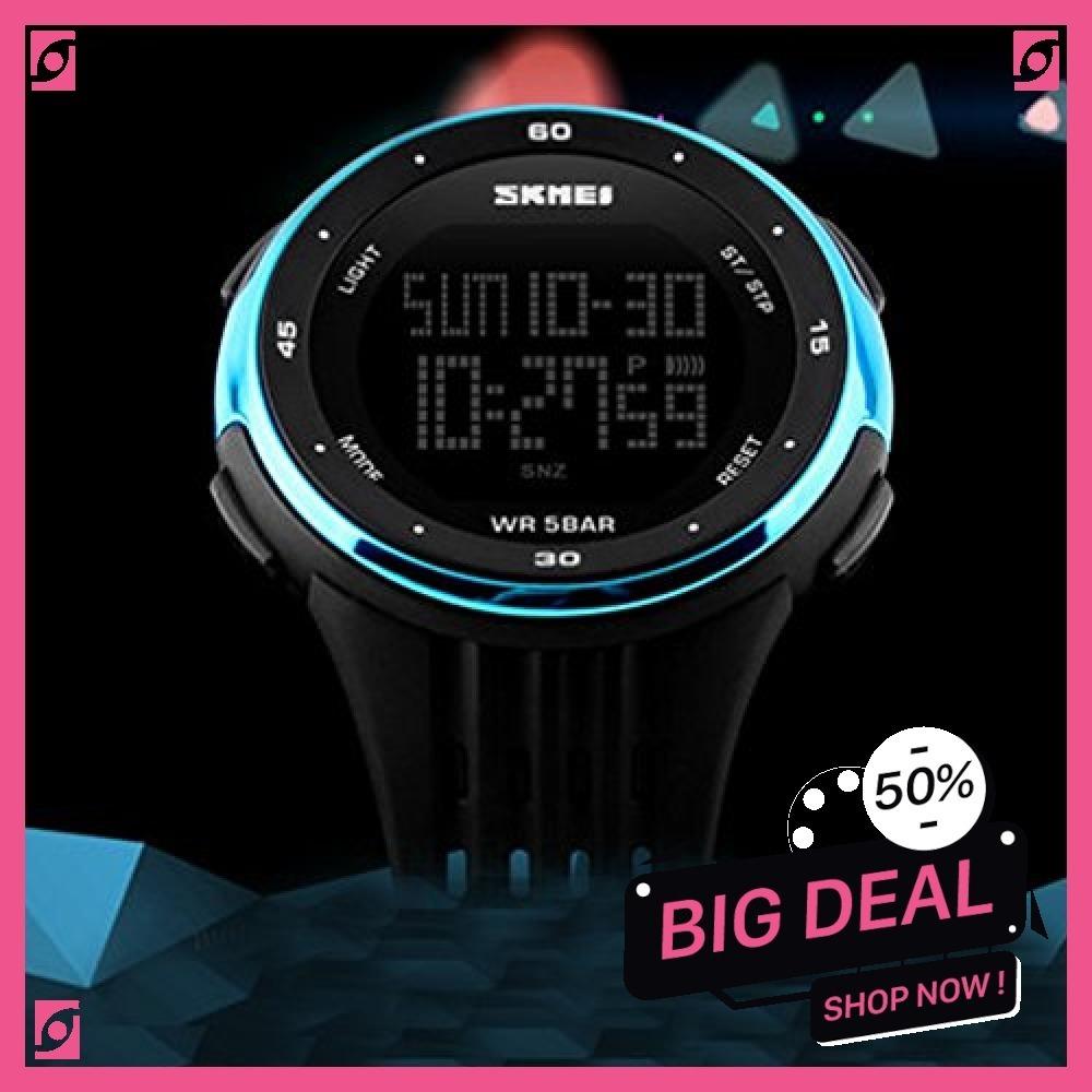 新品 ブルー Timever(タイムエバー)デジタル腕時計 防水 メンズ スポーツ うで時計 多機能付き ストッ8SUC_画像2