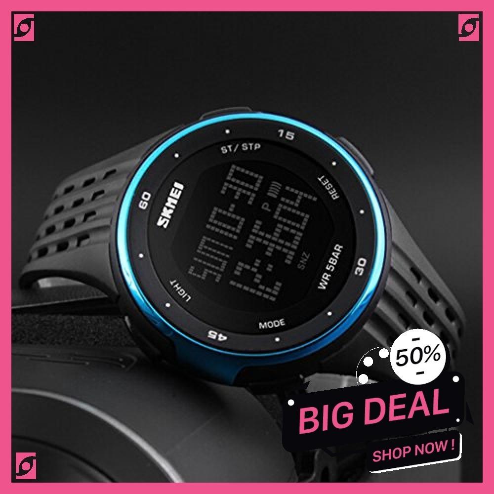新品 ブルー Timever(タイムエバー)デジタル腕時計 防水 メンズ スポーツ うで時計 多機能付き ストッ8SUC_画像3