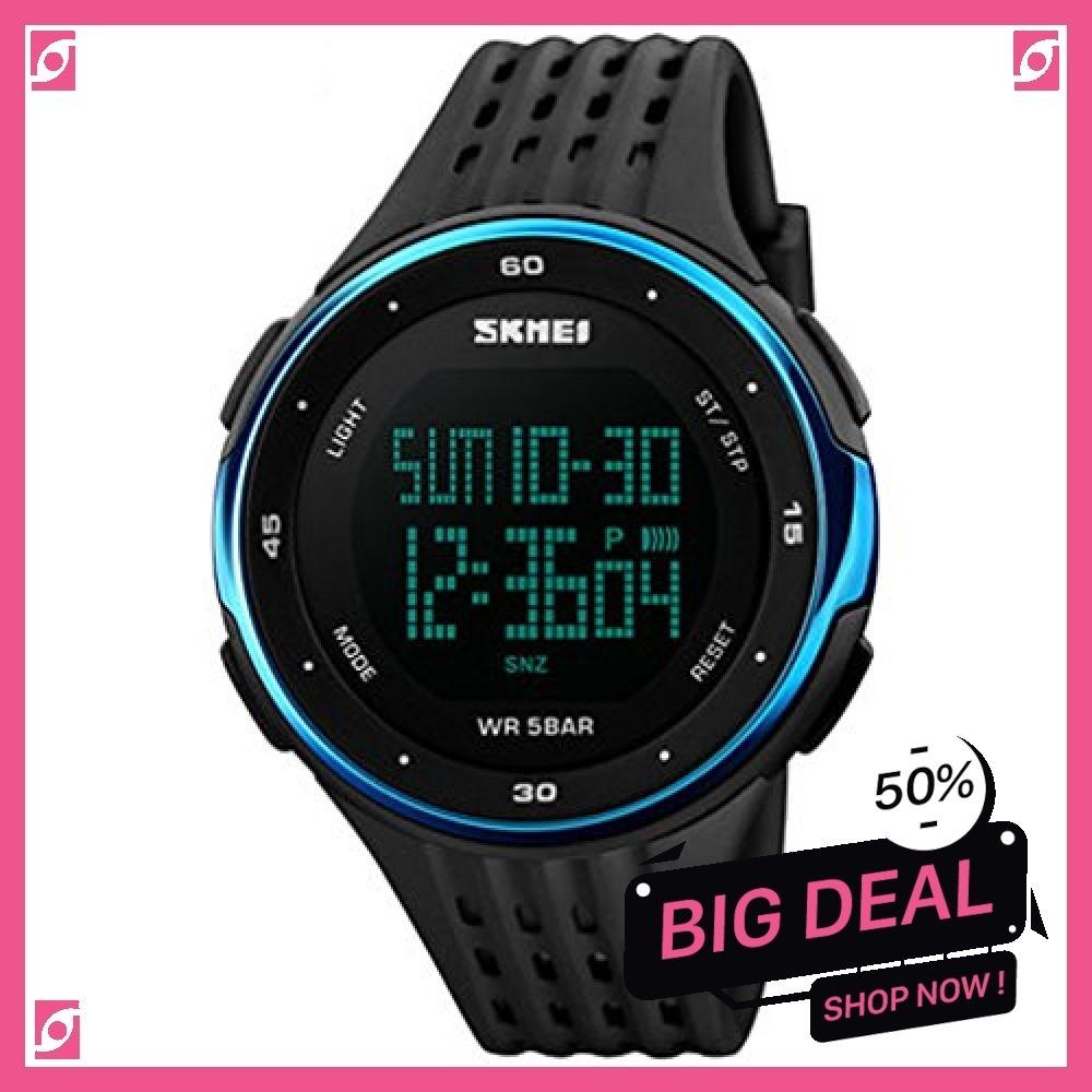 新品 ブルー Timever(タイムエバー)デジタル腕時計 防水 メンズ スポーツ うで時計 多機能付き ストッ8SUC_画像8