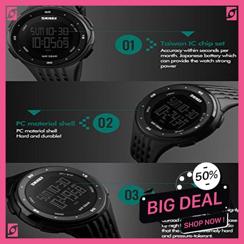 新品 ブルー Timever(タイムエバー)デジタル腕時計 防水 メンズ スポーツ うで時計 多機能付き ストッ8SUC_画像6