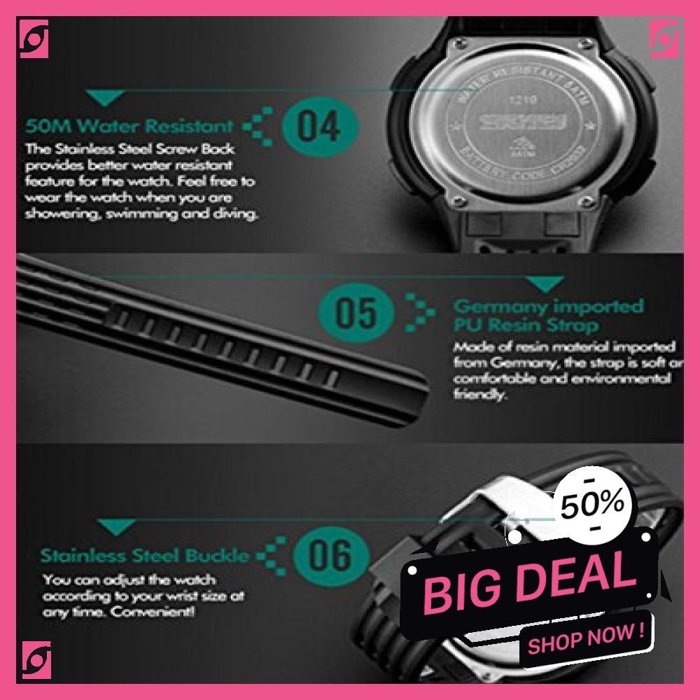 新品 ブルー Timever(タイムエバー)デジタル腕時計 防水 メンズ スポーツ うで時計 多機能付き ストッ8SUC_画像7