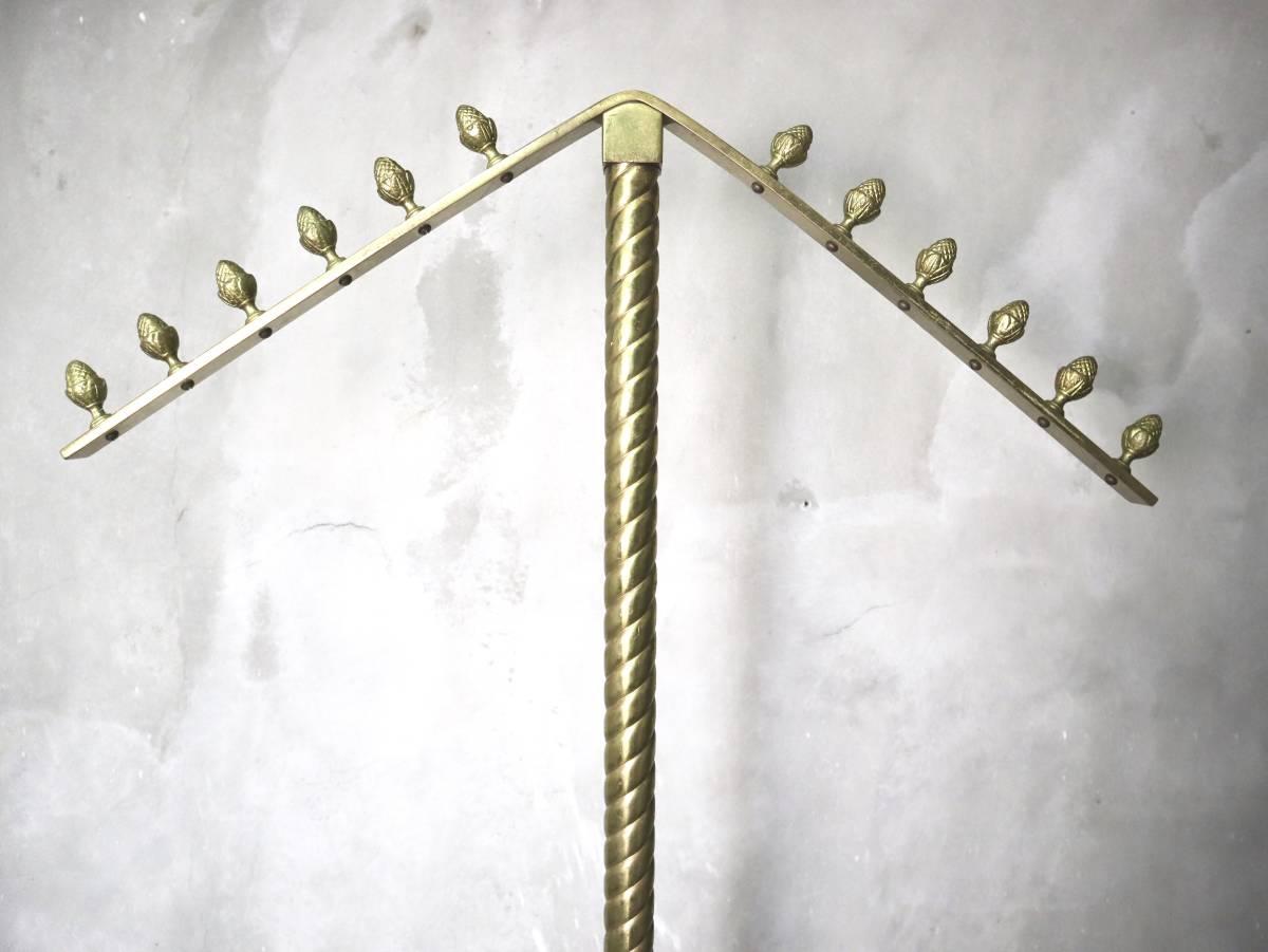 ビンテージ ハンガースタンド ブラス 真鍮 アンティーク ヴィンテージ 店舗什器 アパレル ハットスタンド_画像2