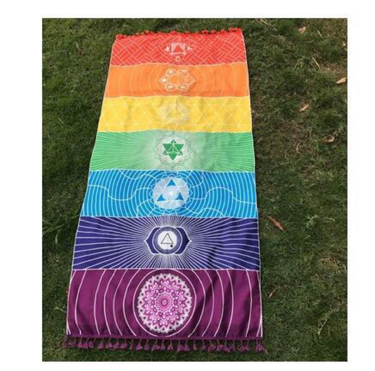 ヨガマット 布 ビーチマット チャクラ 瞑想マット ピクニック シート 占い