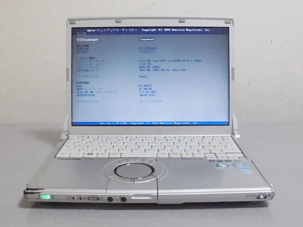 Panasonic Let's note CF-S10CWHDS Core i5 2520M 2.50GHz 4GB ジャンク