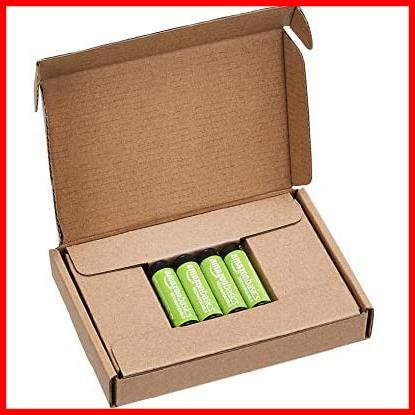 【限界価格】 充電式ニッケル水素電池 単3形4個セット 充電池 (最小容量1900mAh、約1000回使用可能) Amazonベーシック_画像4