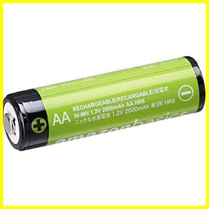 【限界価格】 充電式ニッケル水素電池 単3形4個セット 充電池 (最小容量1900mAh、約1000回使用可能) Amazonベーシック_画像3