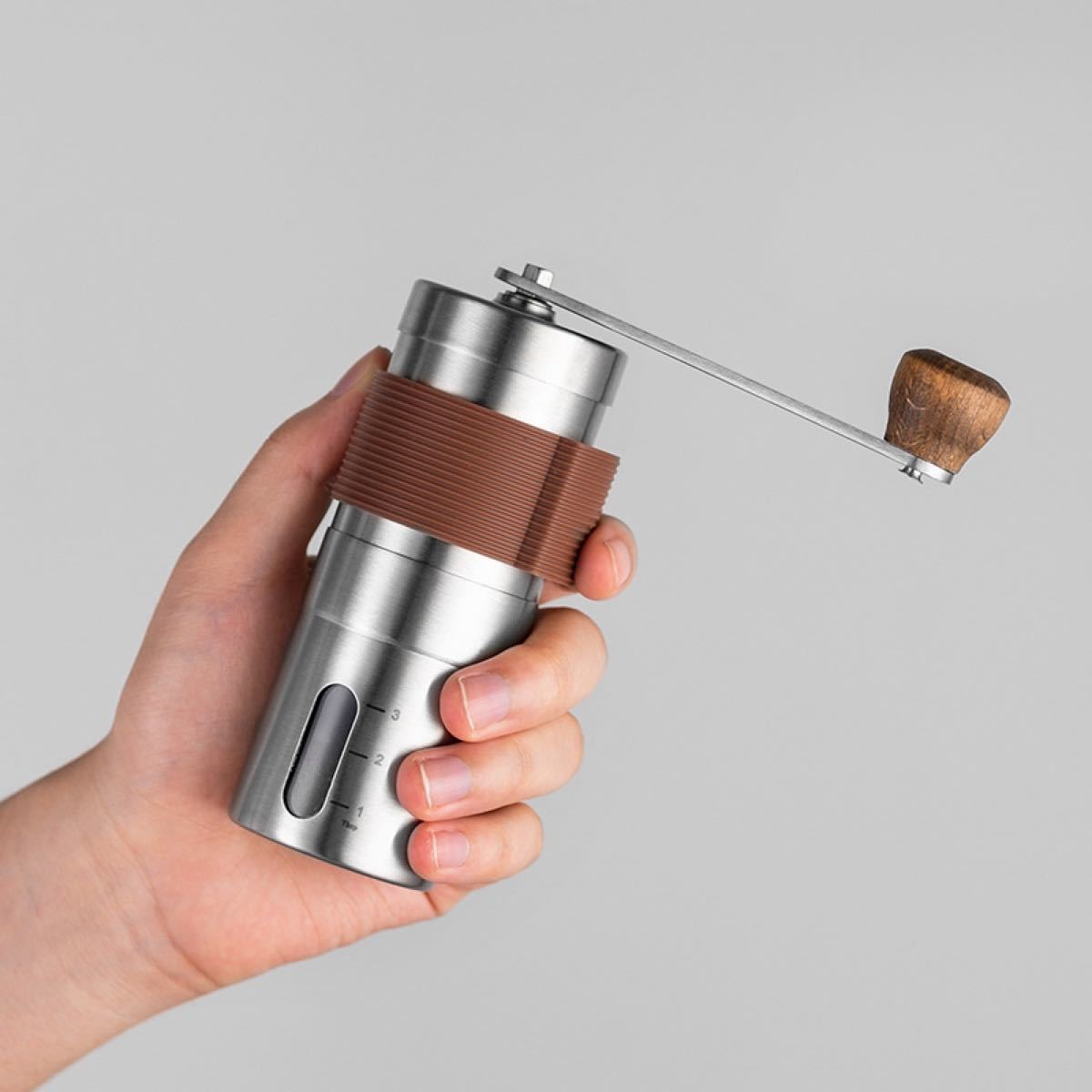 新品 手動粉砕機コーヒー豆メーカー ハンドクランクステンレスグラインダー