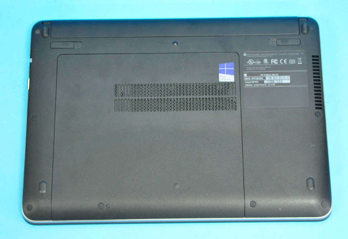 ♪ 上位モデル ProBook 430 G3 ♪ 高速SSD !! Corei3 6100U / メモリ8GB / SSD:256GB M.2 +500GB / カメラ / Office2019 / Win10_画像5