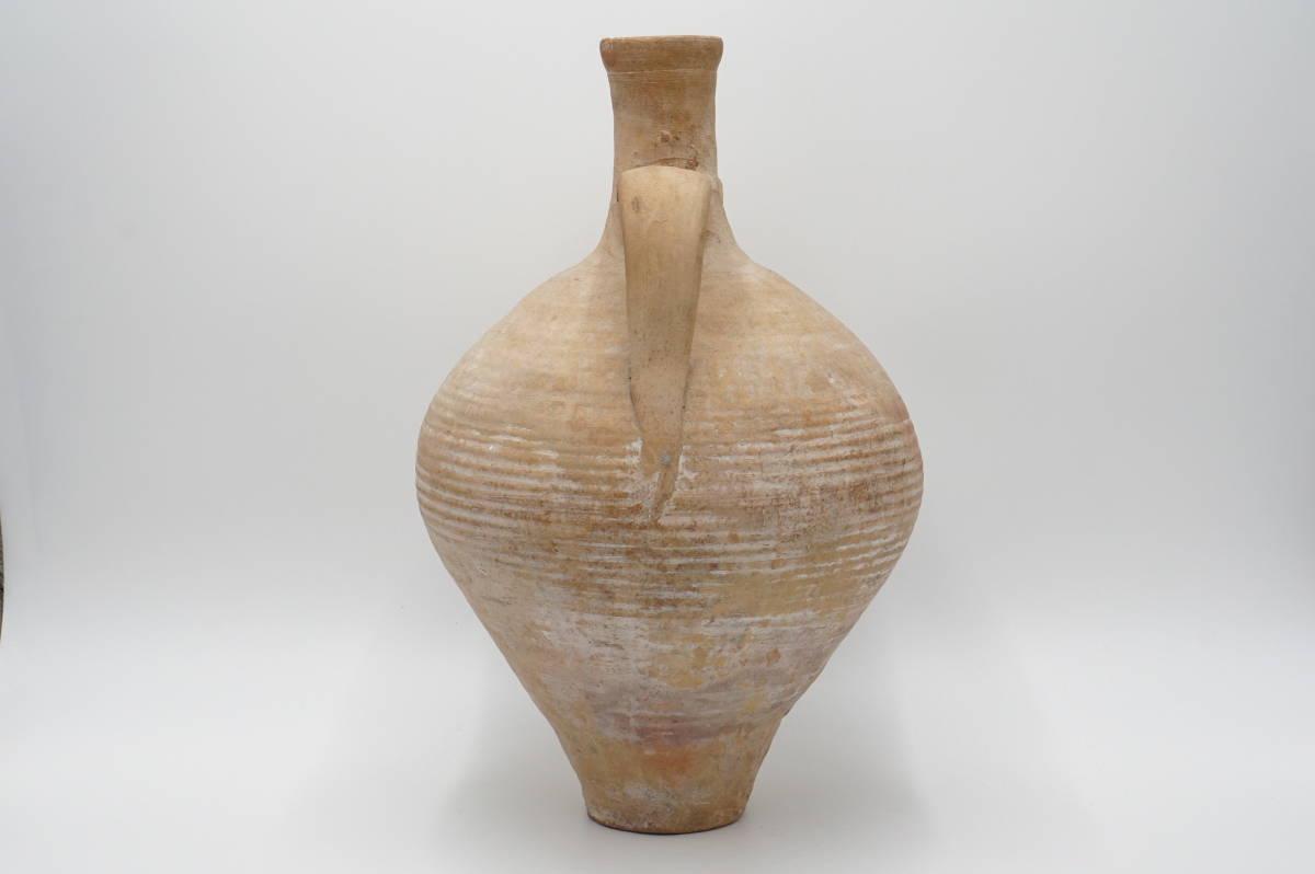 モロッコ 土器 耳付 壺 高さ44cm_画像2