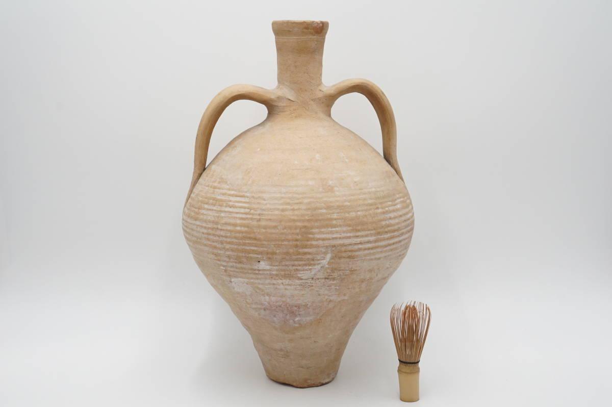 モロッコ 土器 耳付 壺 高さ44cm_画像10