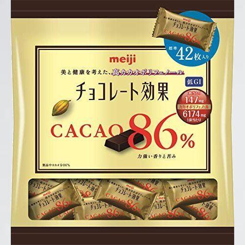 好評 新品 チョコレ-ト効果カカオ86%大袋 明治 M-QT 210g 12111_画像1