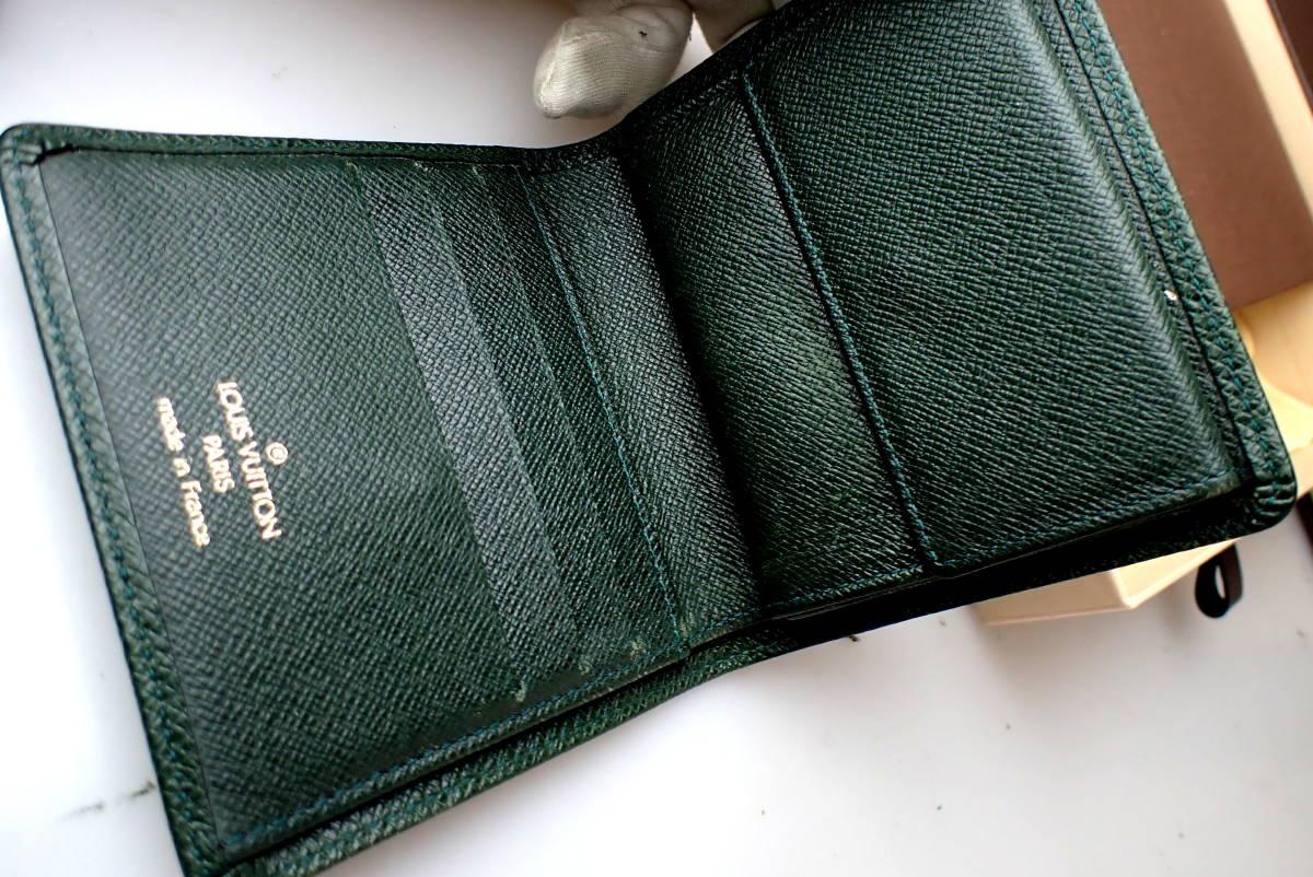 9939正規品★ルイヴィトン★タイガ★二つ折り財布小銭入れ付き_画像8