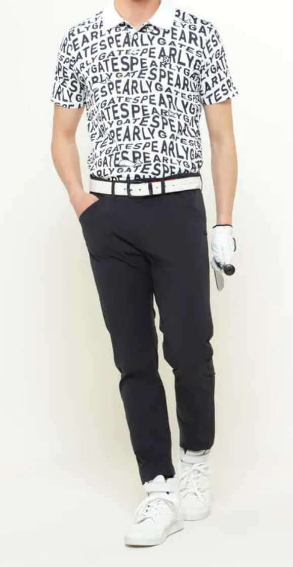 新品正規品 パーリーゲイツ サイズ4 最新作 21夏モデル 高機能ドライマスターエイトロック素材 ポロシャツ 総柄 送料無料_画像2