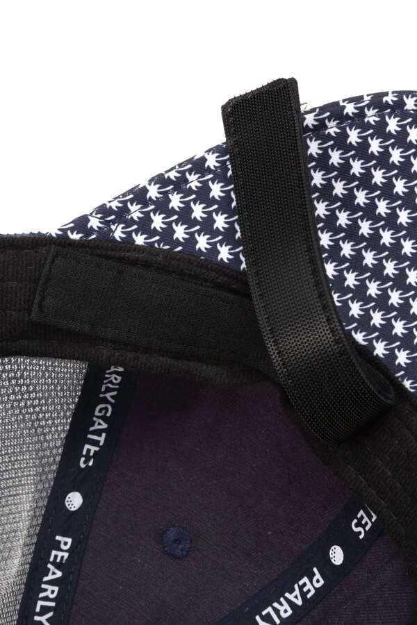 新品正規品 パーリーゲイツ 21夏モデルの最新作 メッシュ キャップ 高機能 遮熱性素材 ヤシの木総柄 ネイビー 送料無料_画像8