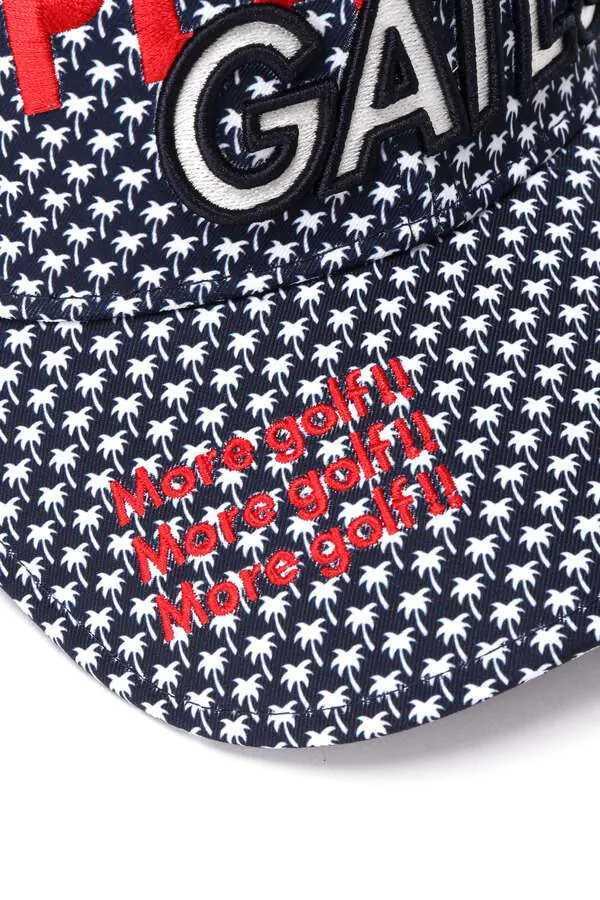 新品正規品 パーリーゲイツ 21夏モデルの最新作 メッシュ キャップ 高機能 遮熱性素材 ヤシの木総柄 ネイビー 送料無料_画像6