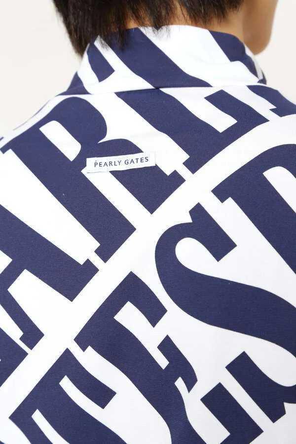 新品正規品 パーリーゲイツ サイズ4 21夏モデル 最新作 総柄 ソルディフェンダー ハイネック シャツ 大人気即完売 送料無料_画像7