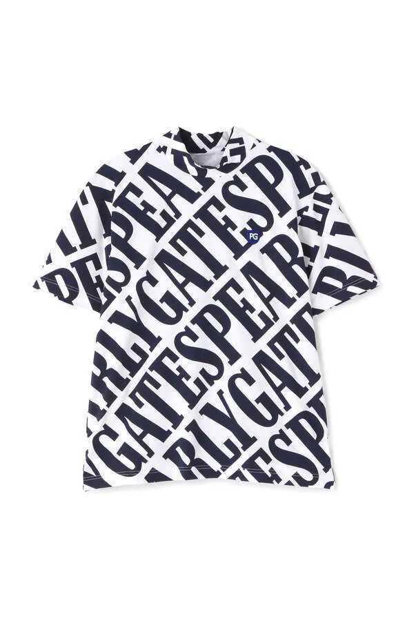 新品正規品 パーリーゲイツ サイズ4 21夏モデル 最新作 総柄 ソルディフェンダー ハイネック シャツ 大人気即完売 送料無料_画像1