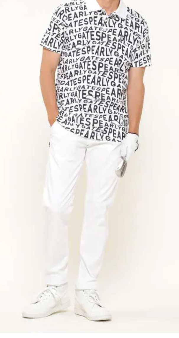 新品正規品 パーリーゲイツ サイズ4 最新作 21夏モデル 高機能ドライマスターエイトロック素材 ポロシャツ 総柄 送料無料_画像3