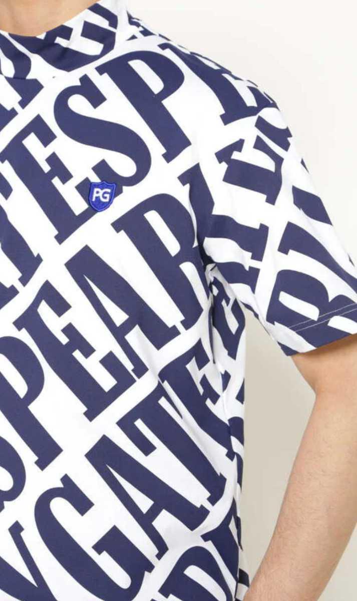 新品正規品 パーリーゲイツ サイズ4 21夏モデル 最新作 総柄 ソルディフェンダー ハイネック シャツ 大人気即完売 送料無料_画像6