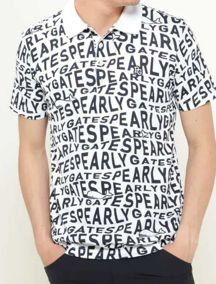 新品正規品 パーリーゲイツ サイズ4 最新作 21夏モデル 高機能ドライマスターエイトロック素材 ポロシャツ 総柄 送料無料_画像1