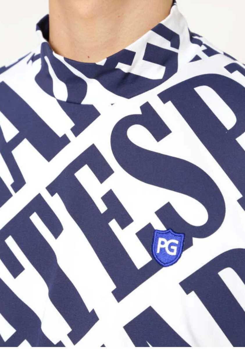 新品正規品 パーリーゲイツ サイズ4 21夏モデル 最新作 総柄 ソルディフェンダー ハイネック シャツ 大人気即完売 送料無料_画像5