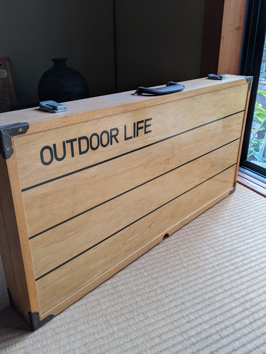 アウトドア 木製テーブルチェアセット