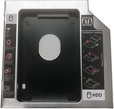 【PCATEC】2nd 12.7mmノートPCドライブマウンタ セカンド 光学ドライブベイ用 SATA/HDD 2.5インチハー_画像1
