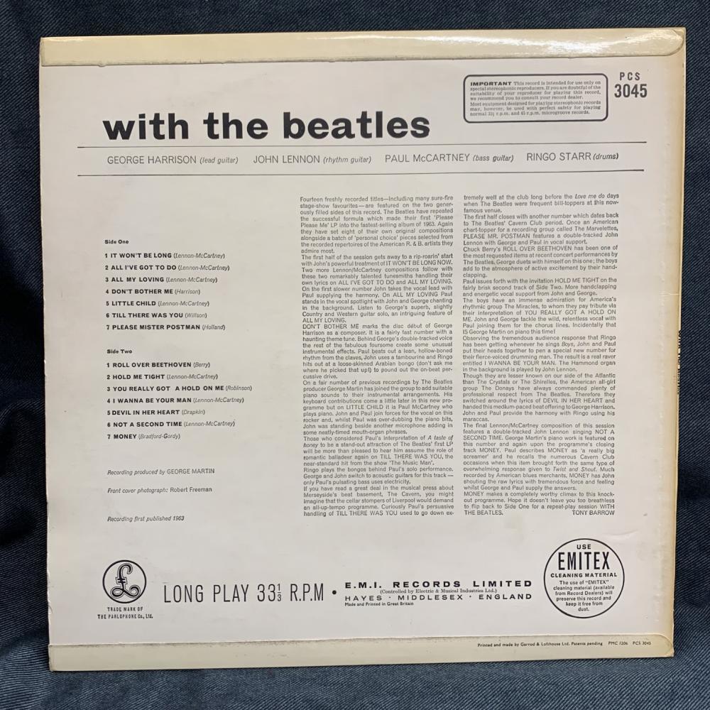 【即決】 BEATLES / WITH THE BEATLES (UK盤)_画像2