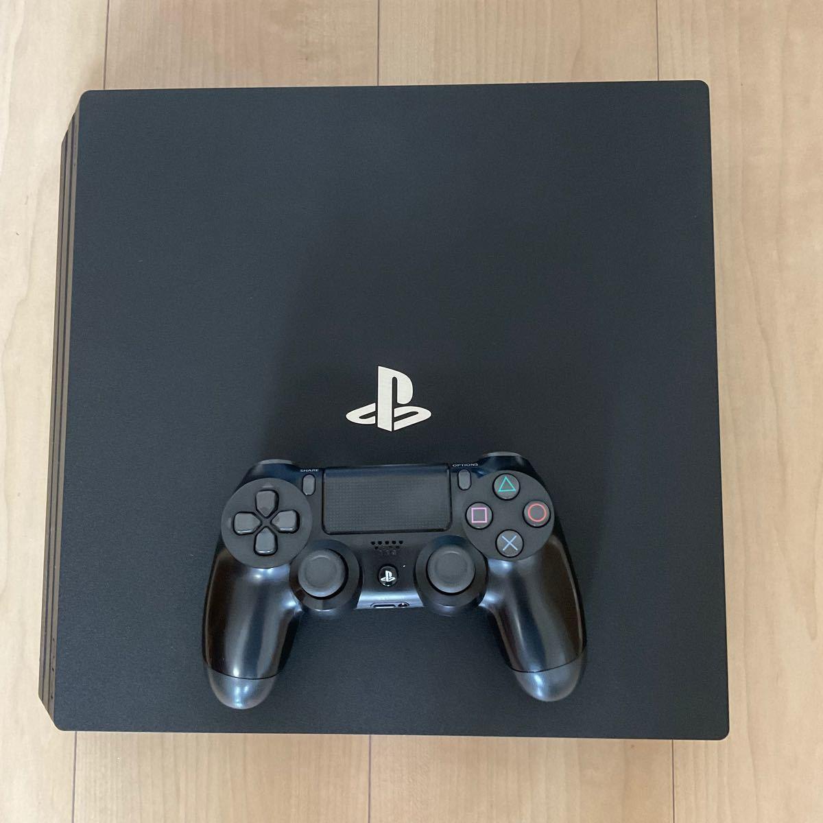 【すぐ遊べる】PS4 Pro 本体 4K画質 1TB  + おまけソフト3 + コントローラー充電スタンド