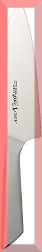 ★2時間セール価格★シルバー 下村工業 日本製 ネオ ヴェルダン 三徳 包丁 165mm モリブデン バナジウム 鋼 食洗_画像1