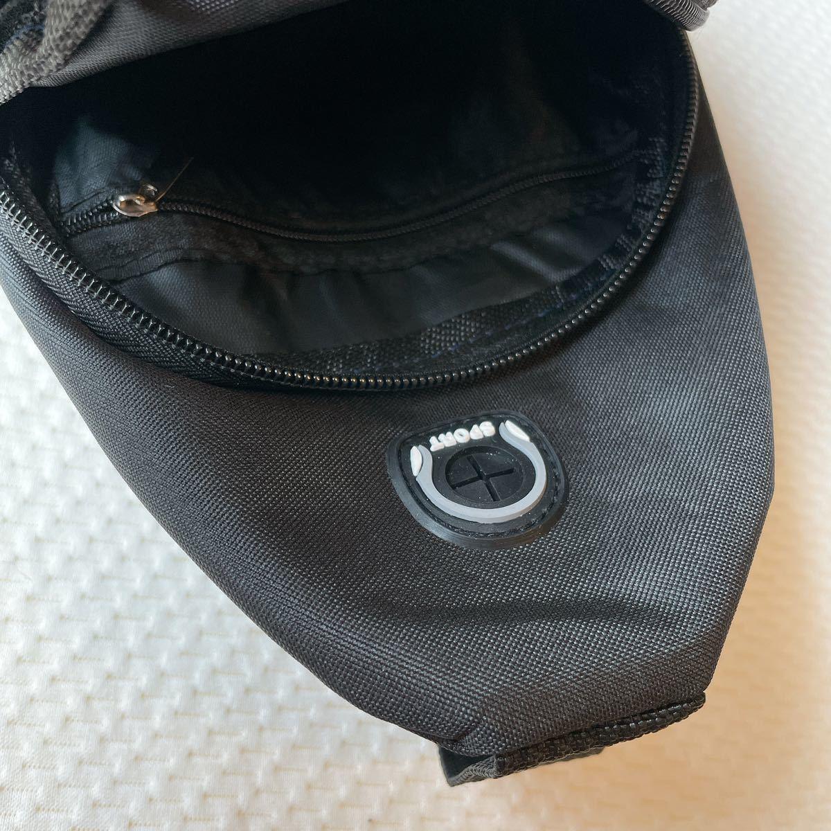 メンズ ウエストバッグ ボディバッグ ウエストポーチ メッセンジャーバッグ ワンショルダーバッグ 斜め掛け ボディーバッグ 黒