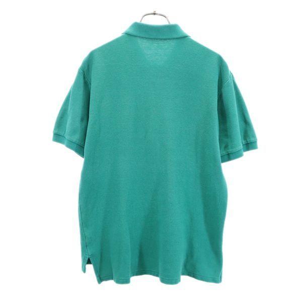 ポロラルフローレン ナイガイ社製 ワンポイントロゴ 半袖 ポロシャツ L 緑 POLO RALPH LAUREN メンズ 210626 メール便可_ポロラルフローレン ナイガイ社 背面