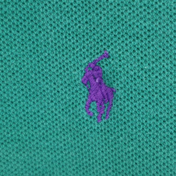 ポロラルフローレン ナイガイ社製 ワンポイントロゴ 半袖 ポロシャツ L 緑 POLO RALPH LAUREN メンズ 210626 メール便可_ポロラルフローレン ナイガイ社 詳細2