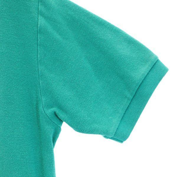 ポロラルフローレン ナイガイ社製 ワンポイントロゴ 半袖 ポロシャツ L 緑 POLO RALPH LAUREN メンズ 210626 メール便可_ポロラルフローレン ナイガイ社 詳細3