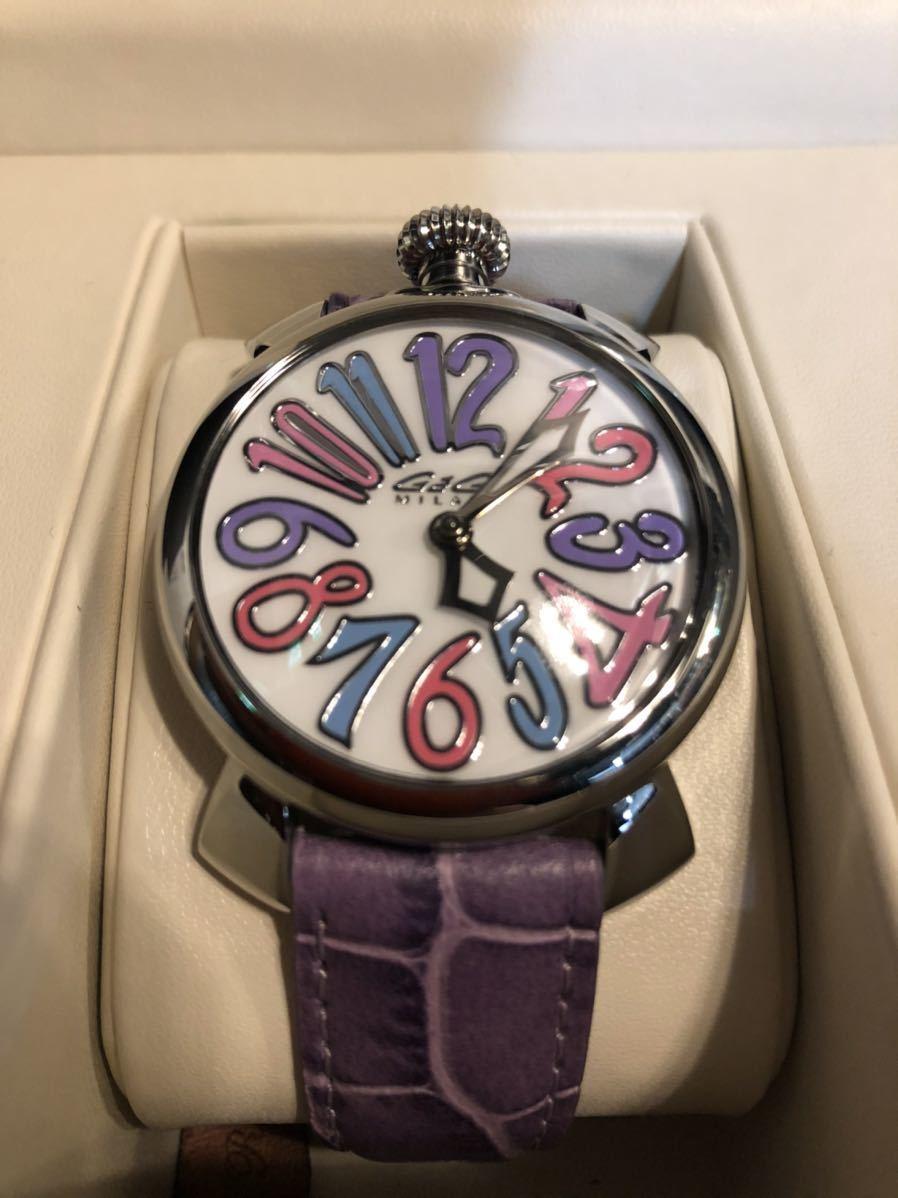 新品 未使用 本物 ガガミラノ GaGa MILANO 腕時計 完璧品 時計 箱付き マニュアーレ 40 男女兼用 ユニセックス