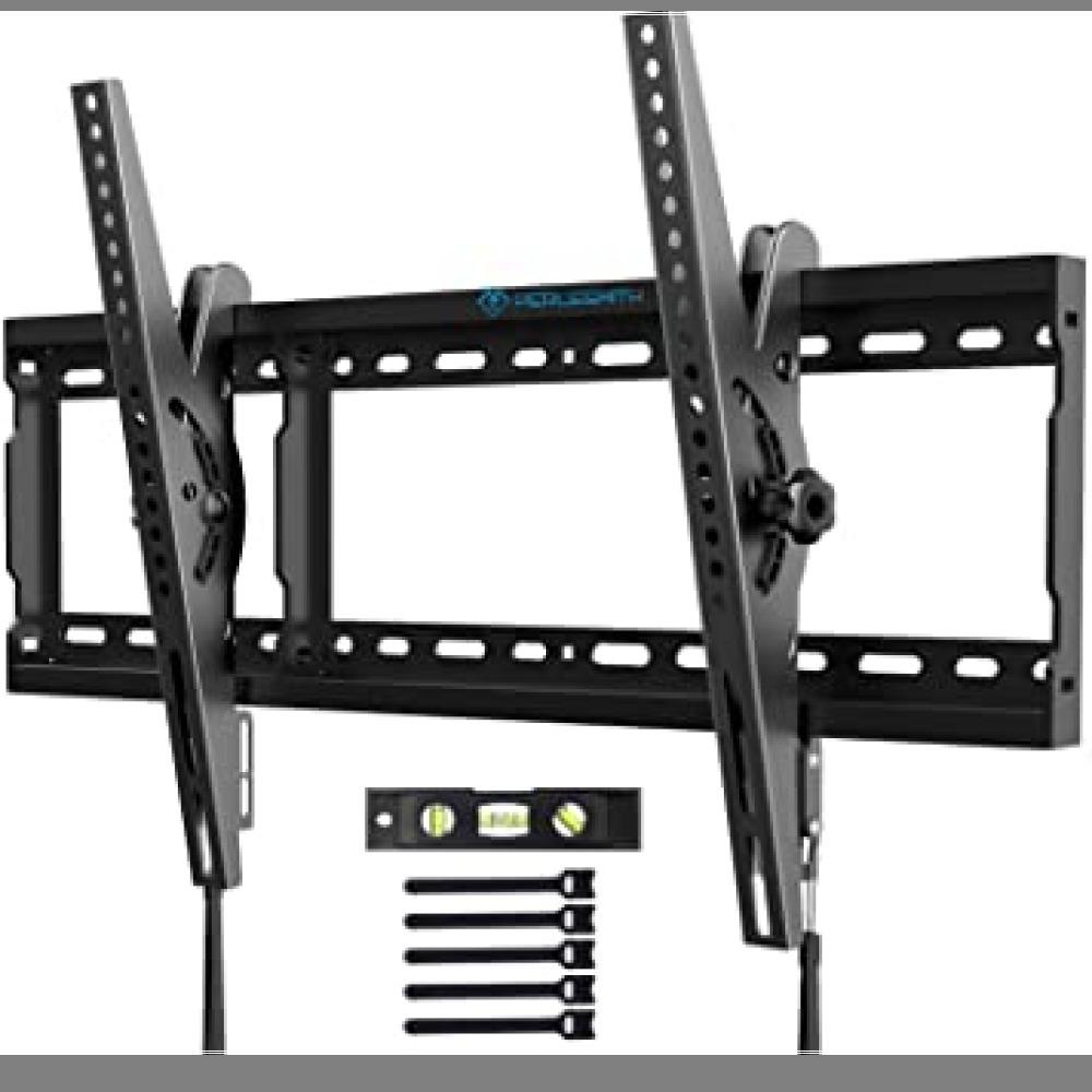 1円から即決・ブラック PERLESMITH テレビ壁掛け金具 37~70インチ 液晶テレビ対応 耐荷重60kg 左右移動式 角_画像1