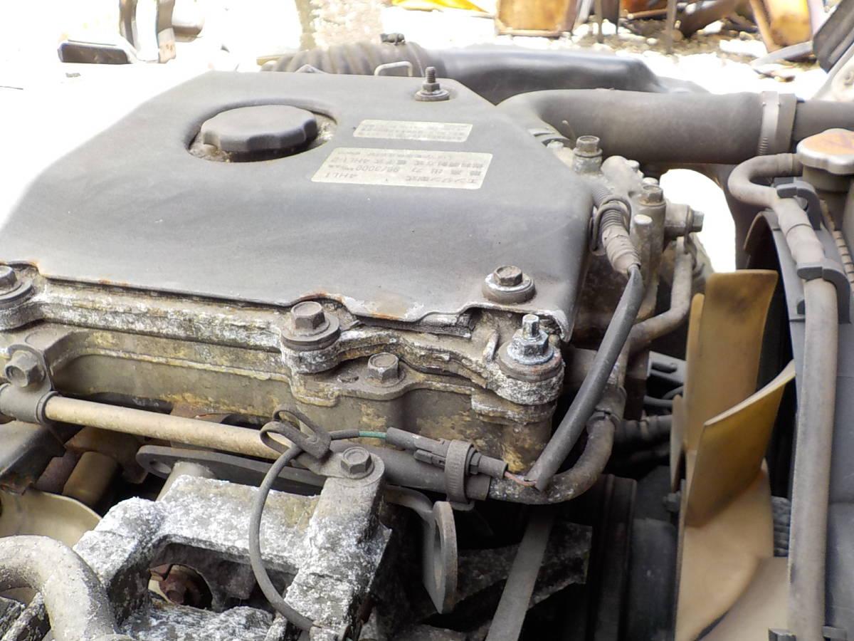 H16年 実走行距離14万km台2トンダンプKR- 4HL1 エンジン 下取り値引き可能 NKR81 用エンジン関東送料無料その他県送料格安 _画像3