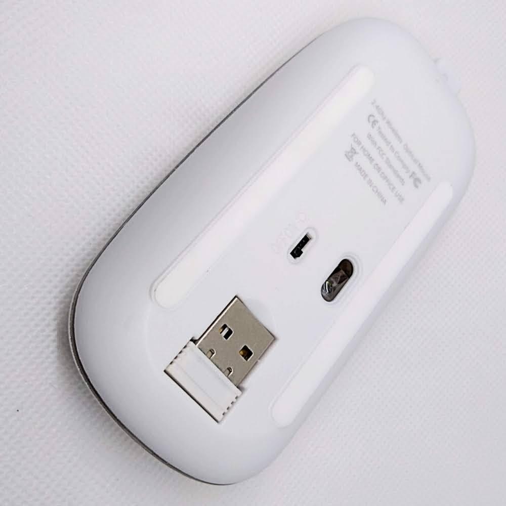 ホワイト ワイヤレスマウス 静音 薄型 無線マウス スリム 2.4