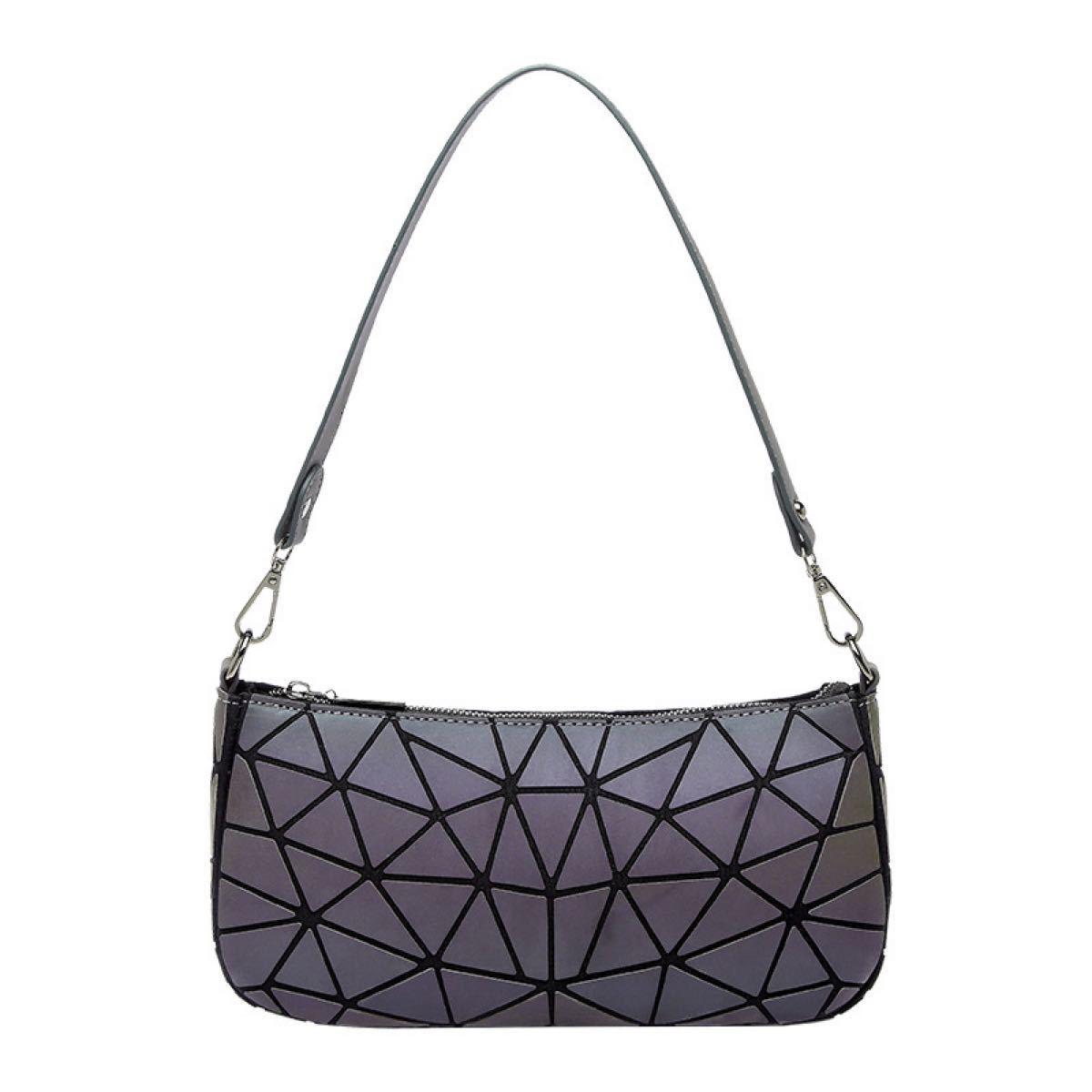ショルダーバッグ トートバッグ 肩掛けバック レディースバッグ 幾何学模様 高品質 2wayバッグ ブラック