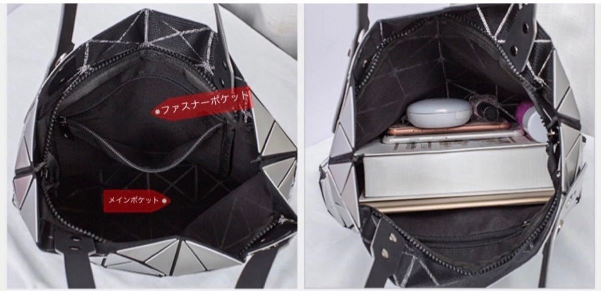 トートバッグ  バックパック 肩掛けバック レディースバッグ 幾何学模様 ブラック