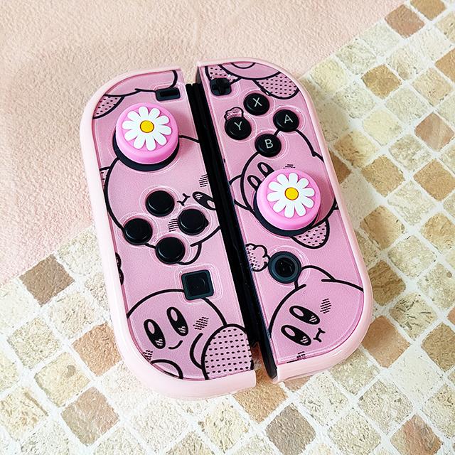【即日~翌日発送】星のカービィ ワドルディ スイッチ カバー 任天堂 Switch 保護 ハード ケース 分離式 かわいい ピンク 総柄