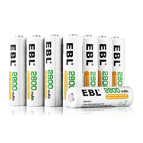 ★2時間限定★ホワイト 単3形充電池 16本 EBL 単3形充電池 充電式ニッケル水素電池 高容量2800mAh 16本入り _画像1
