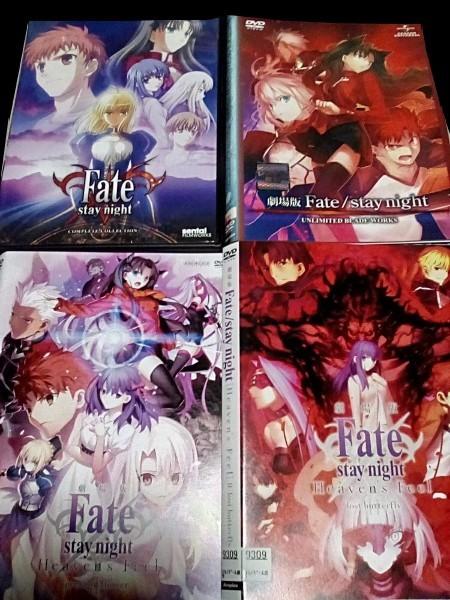 DVD  北米版フェイトFate / Stay Night 全24話   レンタル落ち ケースなし 劇場版フェイト 3作