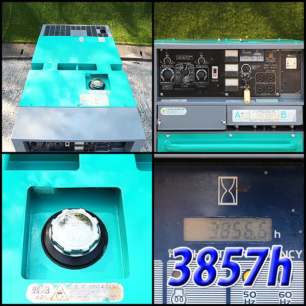 溶接機 デンヨー DLW-400ESW 2人用溶接機 アーク溶接 建設機械 防音型 ディーゼル 発電機 軽油 DENYO 中古 6H48_画像3